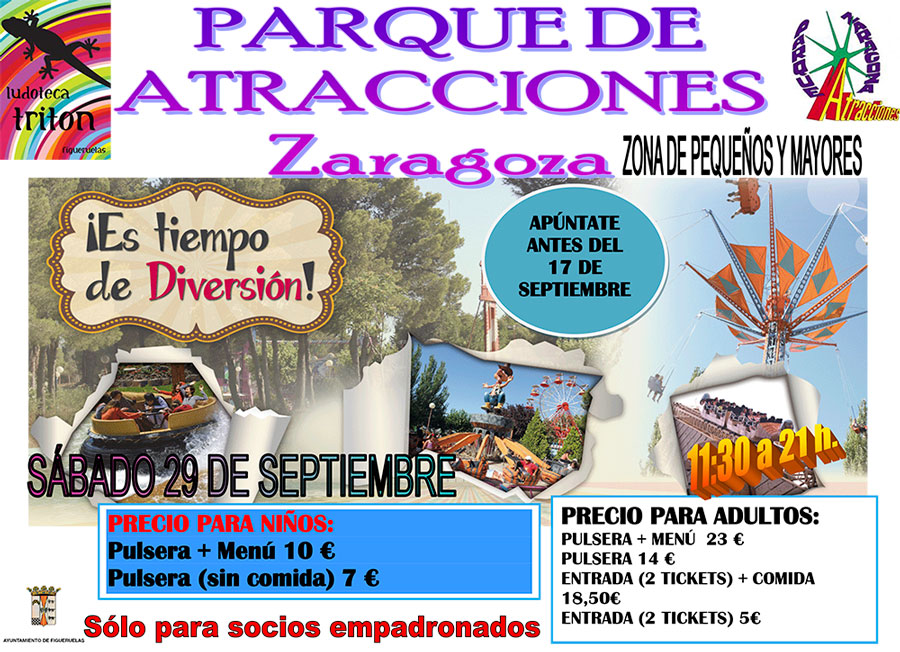 CARTEL EXCURSION PARQUE ATRACCIONES 2018